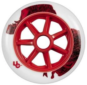 Колесо для роликов Powerslide T-Rex (Bullet Radius) 406124/86 - 125mm/86a, белое (4040333426890)