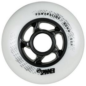Колесо для роликов Powerslide Spinner 905323 - 90mm/85a, матово-белое (4040333499146)