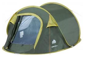 Палатка двухместная Trek Planet Moment Plus 2, зеленая (20048220070146)