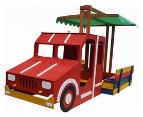 Песочница деревянная SportBaby Пожарная машина (SB-pesoch-17)