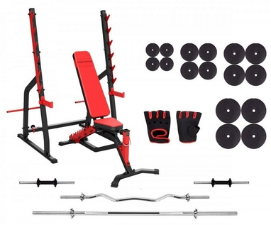 Набор силовой Marbo Sport MS3 со штангой, 152 кг (MS3-152)