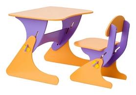 Комплект детский (столик + стульчик) с регулировкой по высоте SportBaby, фиолетовый (KinderSt-8)