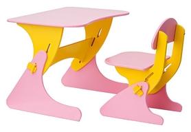 Комплект детский (столик + стульчик) с регулировкой по высоте SportBaby, желтый (KinderSt-7)