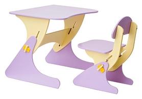 Комплект детский (столик + стульчик) с регулировкой по высоте SportBaby, сиреневый (KinderSt-6)