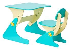 Комплект детский (столик + стульчик) с регулировкой по высоте SportBaby, голубой (KinderSt-5)