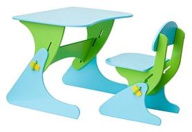 Комплект детский (столик + стульчик) с регулировкой по высоте SportBaby, зеленый (KinderSt-4)