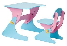 Комплект детский (столик + стульчик) с регулировкой по высоте SportBaby, розовый (KinderSt-3)