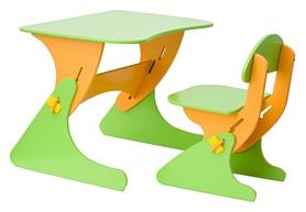 Комплект детский (столик + стульчик) с регулировкой по высоте SportBaby, оранжевый (KinderSt-2