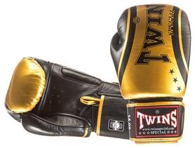 Перчатки боксерские Twins Special Fancy Classic Boxing Gloves, золотистые (FP-FBGVTW4)