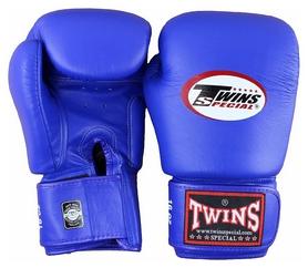 Перчатки боксерские Twins Special Muay Thai Boxing Gloves, синие (FP-BGVL3)