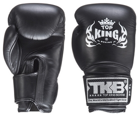 Перчатки боксерские Top King Boxing Gloves Air, черные (FP-TKBGSA)