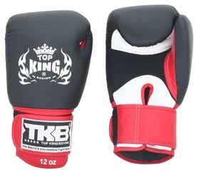 Перчатки боксерские Top King Boxing Gloves Air, черно-красные (FP-TKBGSA-BKRD)