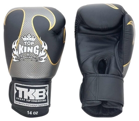 Перчатки боксерские Top King Boxing Gloves Empower Creativity, черные (FP-TKBGEM01)