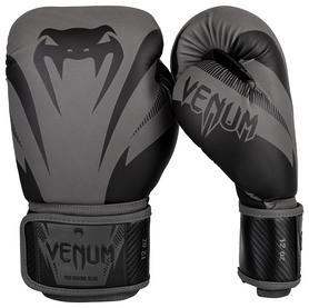 Перчатки боксерские Venum Impact Boxing Gloves, серо-черные (FP-03284)