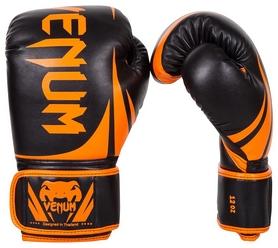 Перчатки боксерские Venum Challenger 2.0 Boxing Gloves, черно-оранжевые (FP-2049-OR)