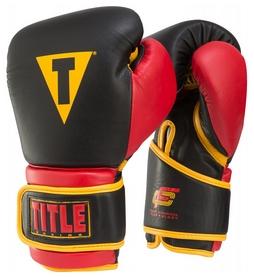 Перчатки боксерские Title Foam Channel Technology Training Gloves, черно-красные (FP-FCTTGV)
