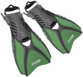 Ласты для дайвинга IST Otter FK31GN, зелёные