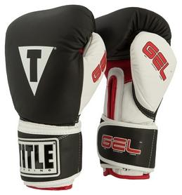 Перчатки боксерские Title Gel Intense Training/Sparring Gloves, черные (FP-GIBSG-BK)