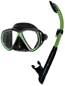 Комплект для дайвинга IST Combo Set CS75608-BS/GN, черно-зеленый (ES115201)