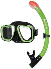 Комплект для дайвинга IST Combo Set CS91035-BS/GN, черно-зеленый (ES115207)