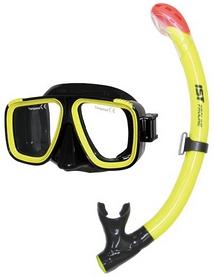 Комплект для дайвинга IST Combo Set CS91035-BS/NY, черно-желтый (ES115208)