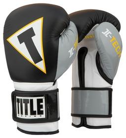Перчатки боксерские Title Icon I-Tech Training Gloves, черно-серые (FP-IITGE)