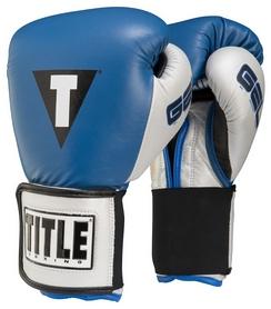 Перчатки боксерские Title Gel World V2T Training Gloves, синие (FP-GTWGEV2T)
