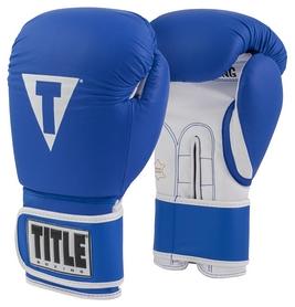 Перчатки боксерские Title Pro Style Leather Training Gloves 3.0, синие (FP-TVVTG3-BL)