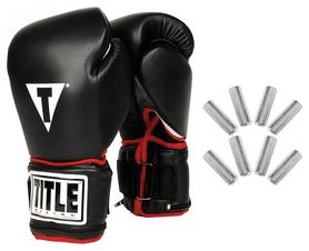 Перчатки боксерские Title Power Weighted Super Bag Gloves, черные (FP-PWSBG)