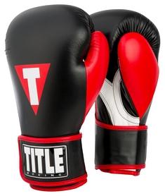 Перчатки боксерские Title Inspire Boxing Gloves, черно-красные (FP-XITG)