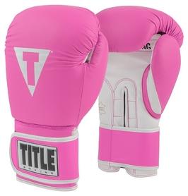 Перчатки боксерские Title Limited Pro Style Leather Training Gloves, розовые (FP-TVVTG2)