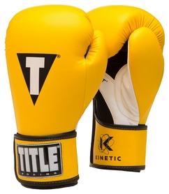 Перчатки боксерские Title Kinetic Aerovent Boxing Glove, желтые (FP-XTKBG-YL)