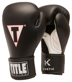 Перчатки боксерские Title Kinetic Aerovent Boxing Glove, черные (FP-XTKBG-BK)