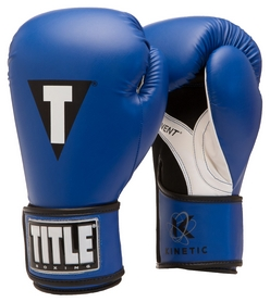 Перчатки боксерские Title Kinetic Aerovent Boxing Glove, синие (FP-XTKBG-BL)