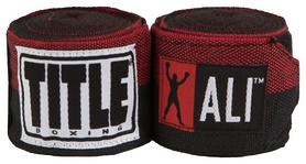 Бинты Title Boxing Muhammad Ali Semi-Stretch Hand Wraps FP-ALISHW - черные, 4,5 м (2976890023505)