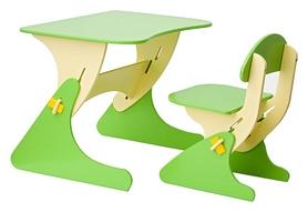 Комплект детский (столик + стульчик) с регулировкой по высоте SportBaby, салатовый (KinderSt-1)