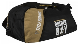 Сумка-рюкзак Title Boxing Golden Boy Sport Bag/Backpack FP-GBBAG1, черно-желтая (2976890023536)