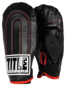 Перчатки снарядные кожаные Title Leather Speed Bag Gloves, черные (FP-TLSBG)