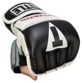 Перчатки снарядные кожаные Title Invade Wristwrap Heavy Bag Gloves, черно-белые (FP-IWHBG)