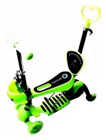 Самокат четырехколесный Scooter Божья коровка 4 in 1, зеленый (1127662597)