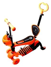 Самокат четырехколесный Scooter Божья коровка 4 in 1, оранжевый (1067412029)