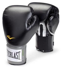Перчатки боксерские Everlast Training Gloves Velcro - черные(FP-14-BK)