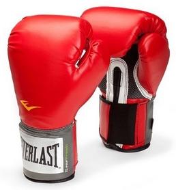 Перчатки боксерские Everlast Training Gloves Velcro - красные(FP-14-RD)