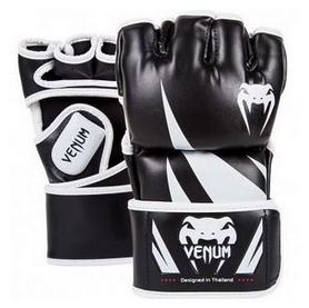 Перчатки для MMA Venum Challenger Gloves-Skintex Leather, черно-белые (FP-0666)