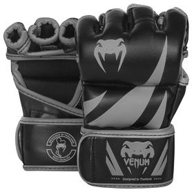 Перчатки для MMA Venum Challenger Gloves-Skintex Leather, черно-серые (FP-0666-GR)