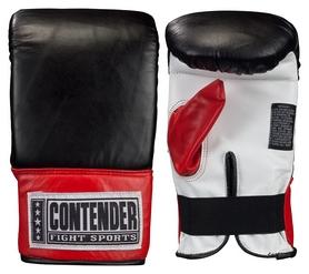 Перчатки снарядные кожаные Ringside Contender Fight Sports Traditional Style Pro Bag Gloves, черно-красные (FP-TBG)
