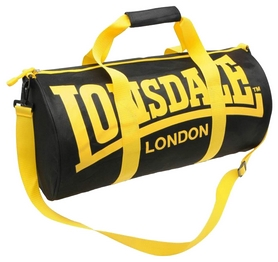 Сумка спортивная женская Lonsdale Barrel Bag FP-SA-S2, черно-желтая (2962760005016)