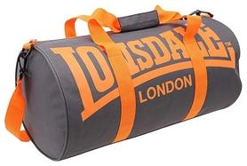 Сумка спортивная женская Lonsdale Barrel Bag FP-SA-S2, серо-оранжевая (2962760005818)