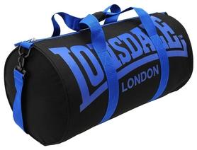 Сумка спортивная женская Lonsdale Barrel Bag FP-SA-S2, черно-синяя (2962760006204)