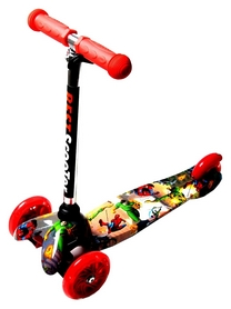 Самокат трехколесный Scooter Mini Best Spiderman, красный (25374224)